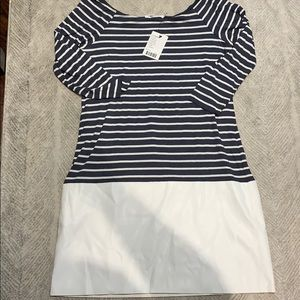 Striped and Pleather Bailey 44 Dress